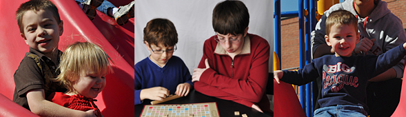 Autistic Children Playing